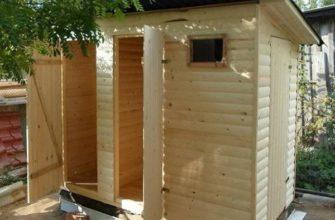 Как построить дачный хозблок с туалетом и душем   Я в доме хозяин