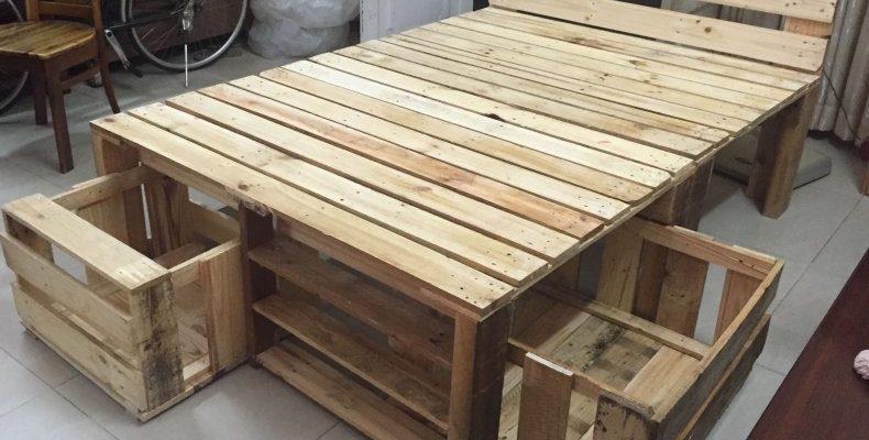 Мебель из поддонов для дачи и сада (110 фото): пошаговое изготовления своими руками