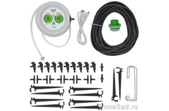 Система автоматического горшочного полива для комнатных растений на 10 мест со встроенным  мембранным насосом Green Helper GA-014 - купить по выгодной цене в интернет-магазине