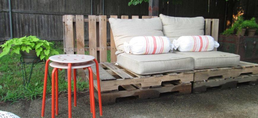 100 лучших идей: садовая мебель своими руками на фото