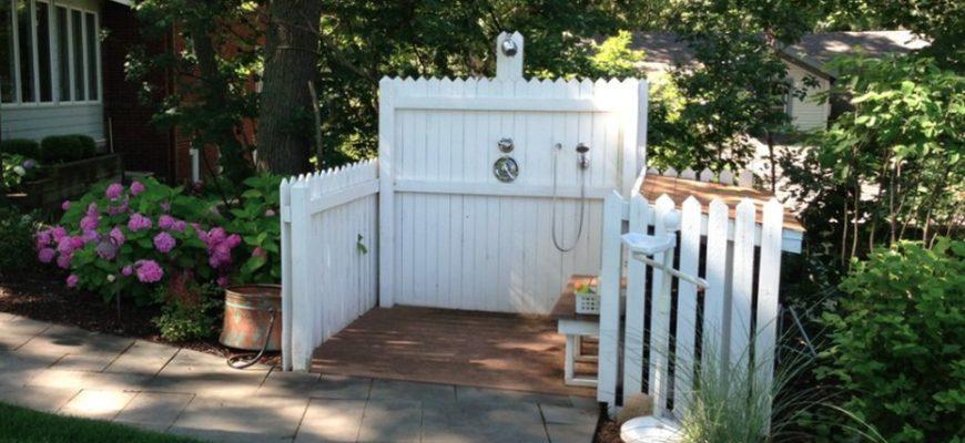 Летний душ во дворе – 125 фото-идей красивого садового душа