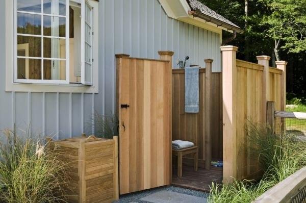 Теплый душ на даче: видео-инструкция как сделать своими руками, особенности утепленных конструкций, с подогревом, чертежи, цена, фото